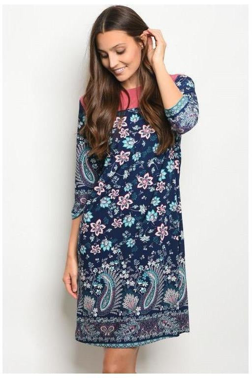 Paisley Garden Tunic Dress