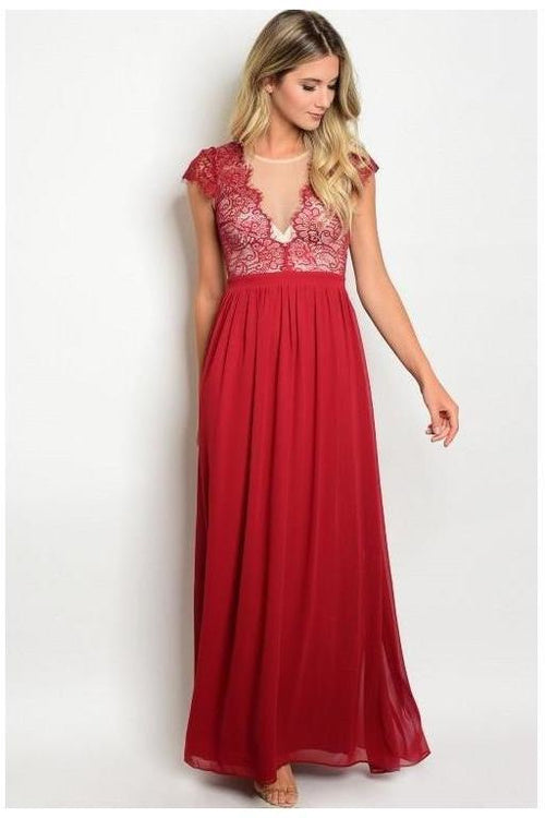 Evas Charmed  And Carefree Gown, Burgundy Wine