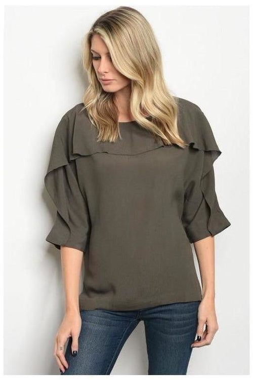 Ravishing Ruffle Trim Top
