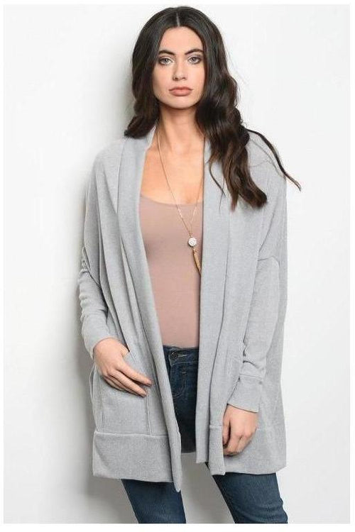 Over-sized Cardigan Dusty Gray