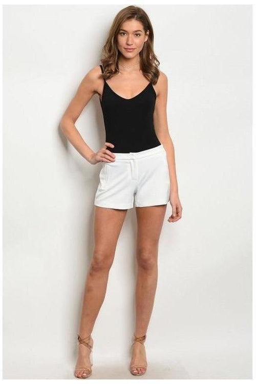 Crisp and Couture, Fitted Waistband Shorts