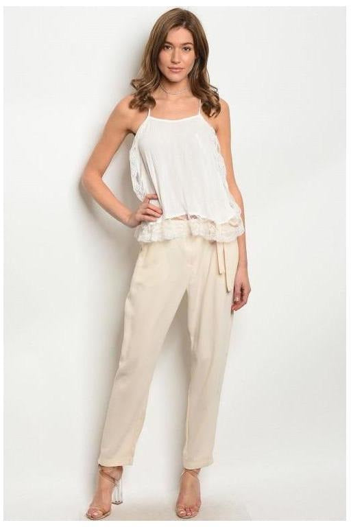 Cream Color Trousers