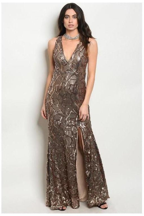 Party Sequin Maxi Dress - RMC Boutique