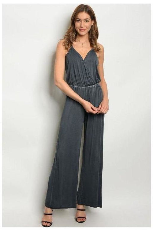 Charcoal Jumpsuit - RMC Boutique