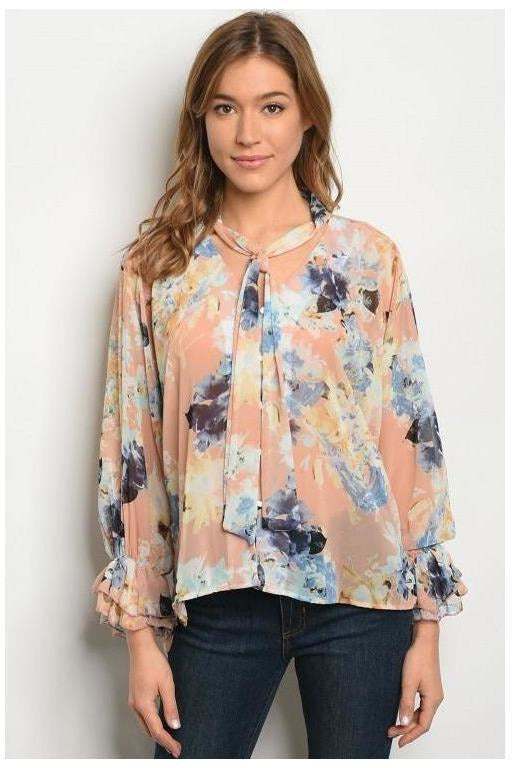 Colors Of the Clouds, Floral Top