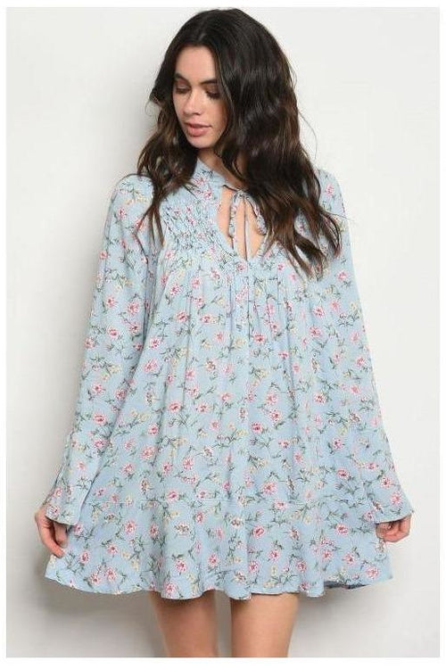 Sweet Baby Blues, Floral Shift Dress