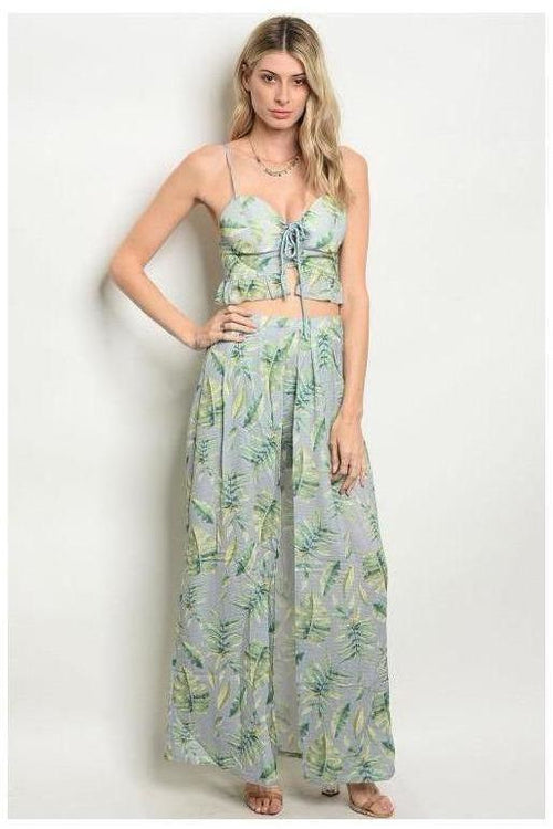 All The Right Moves, Tropical Print Two Piece Set