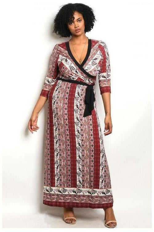 Style Essential Paisley Maxi Dress, Plus Size
