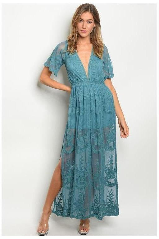 Chloe Maxi Dress, TEAL