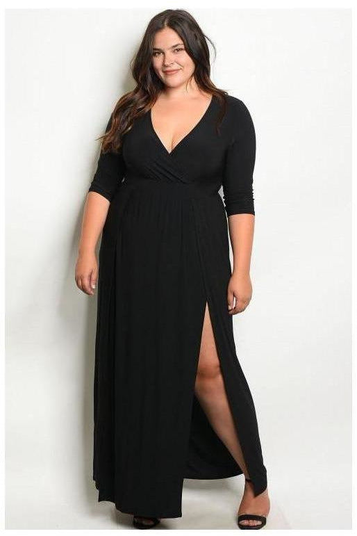 More Than Meets The Eye, Plus Size Maxi Dres