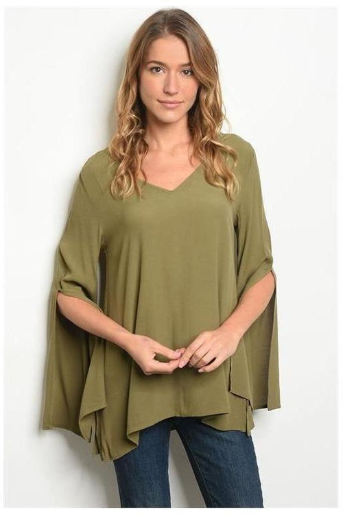 Bell Sleeve Tunic Blouse