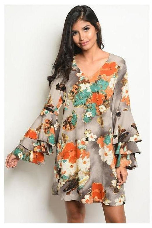 Worth The Wait, Rich Floral Print Dress