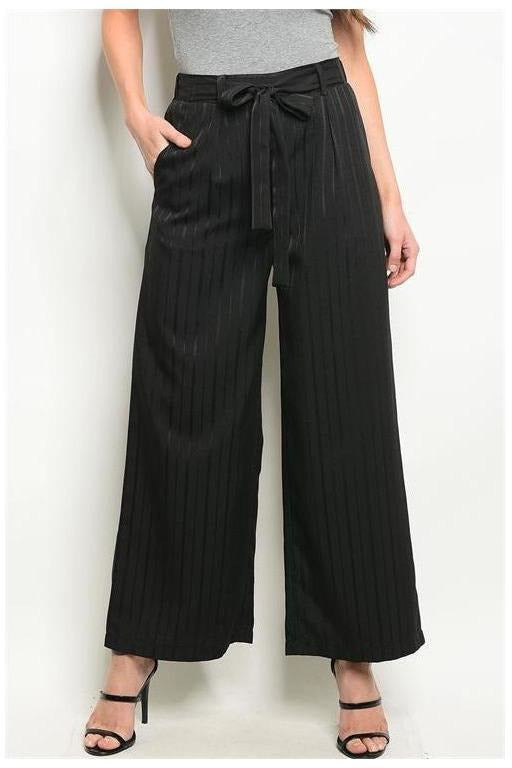 Fitted High Waist Striped Trousers - RMC Boutique