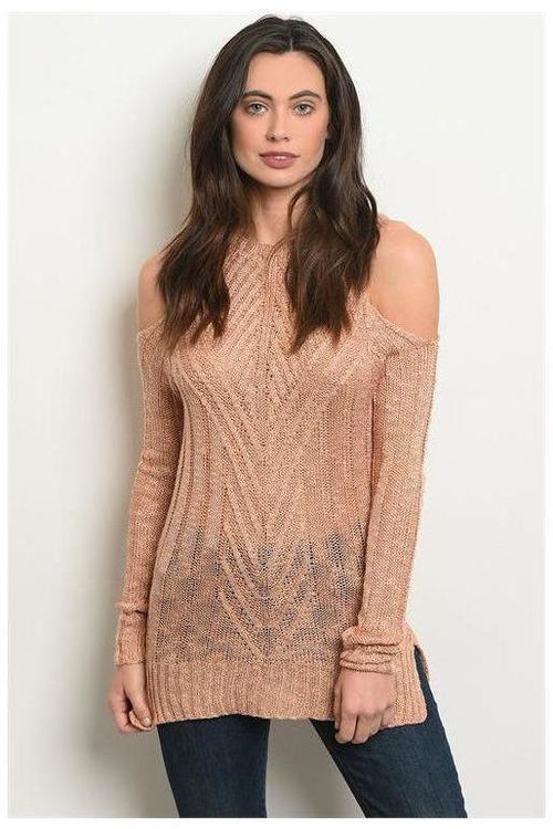 Cold Shoulder Sweater Knit Top