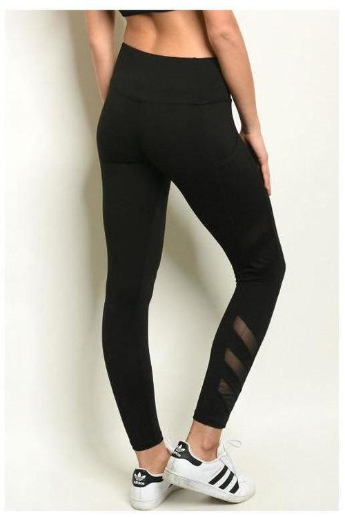 Athleisure Black Mesh Leggings