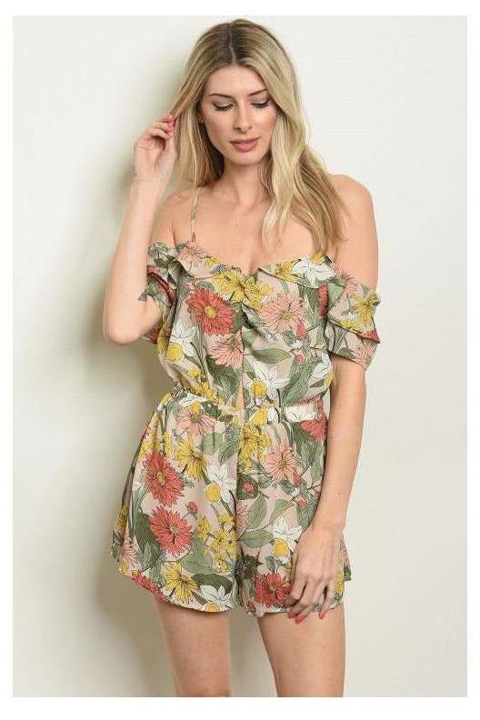Perfect Timing, Floral Romper