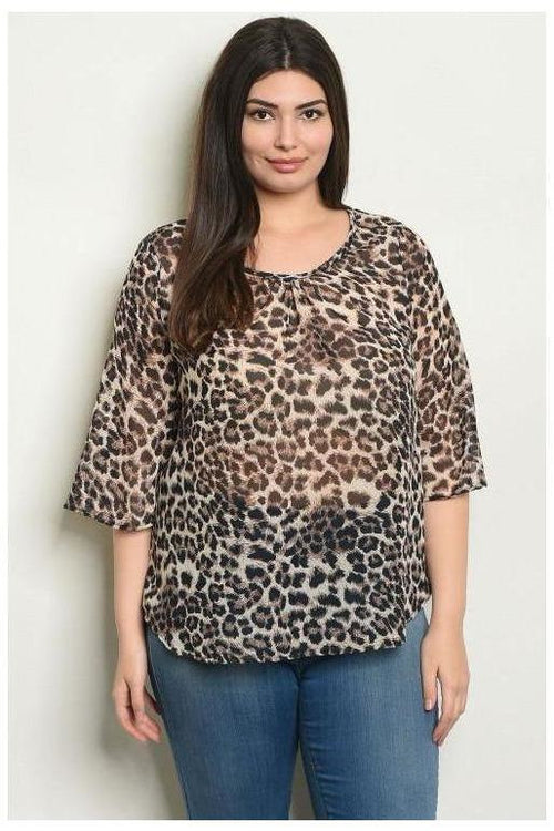 Sassy You Leopard Print Top