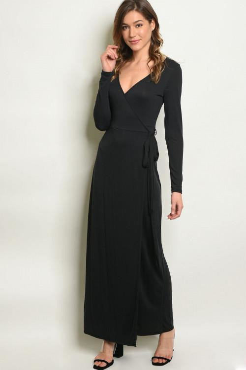 Black Wrap Dress - RMC Boutique