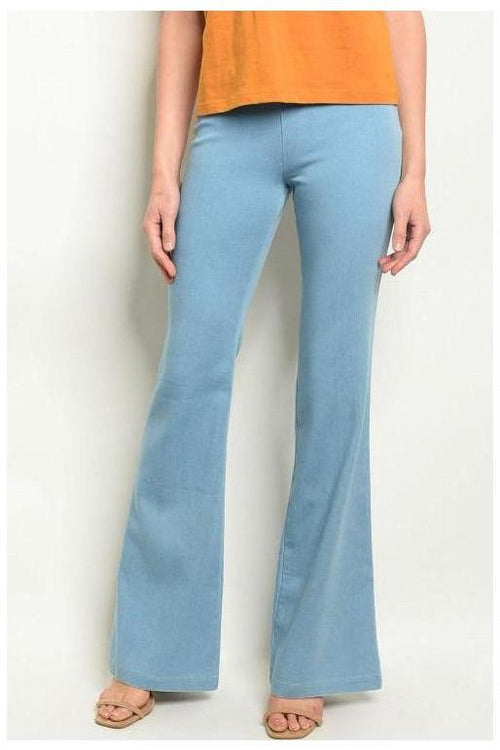 Totally Flared Denim Jeans, Light Wash