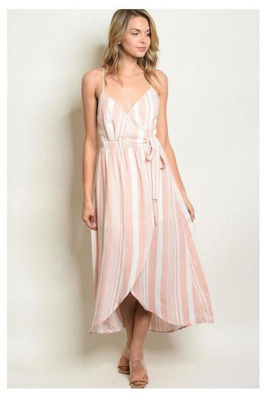 Wrap Around With A Bow Flowy Dress - RMC Boutique