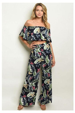 Happy Thoughts Abstract Print Jumpsuit