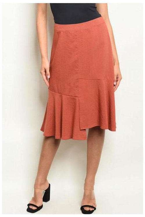 Flowy Brick Skirt - RMC Boutique