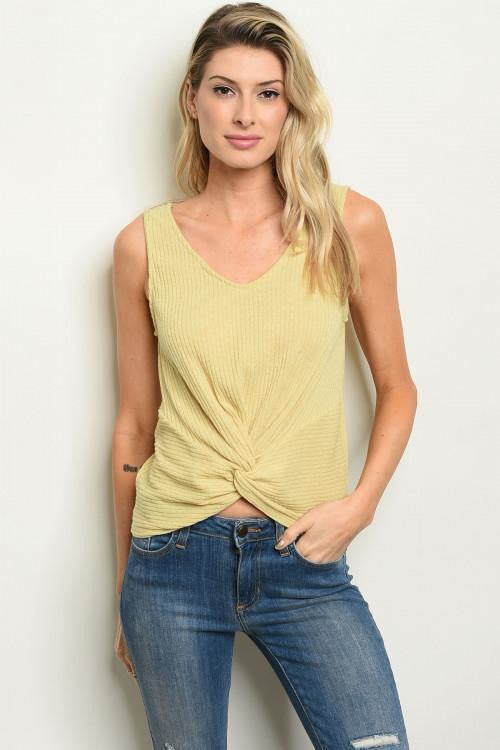 Knotted Front Tank Top