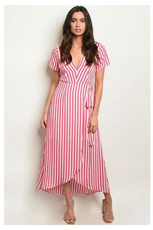 Candy Striped Maxi Dress