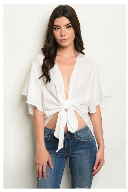 Oasis Is Calling, Front Tie Crop Top