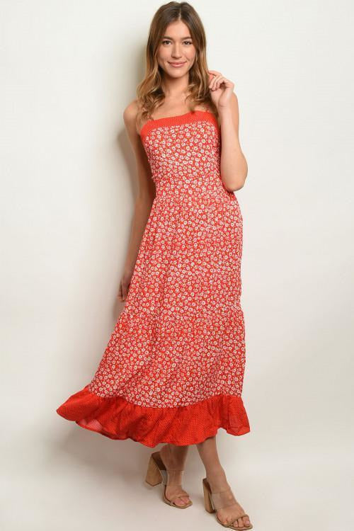 Oh Daisy! Floral Print Maxi Dress