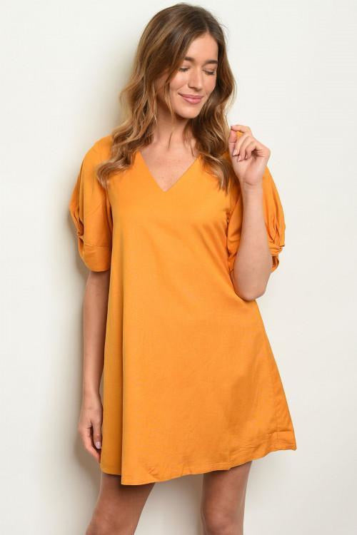 Perfect For The Season, Cotton Mustard Dress