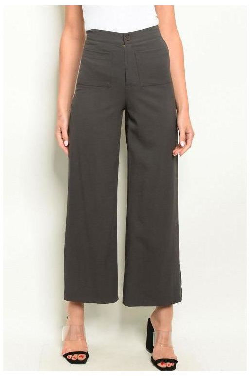 DARK OLIVE PANTS - RMC Boutique