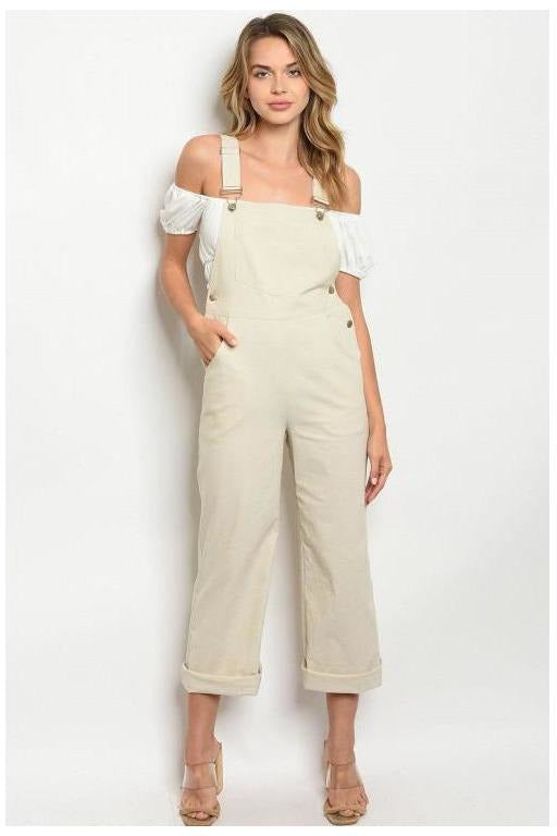 Oatmeal Overalls - RMC Boutique