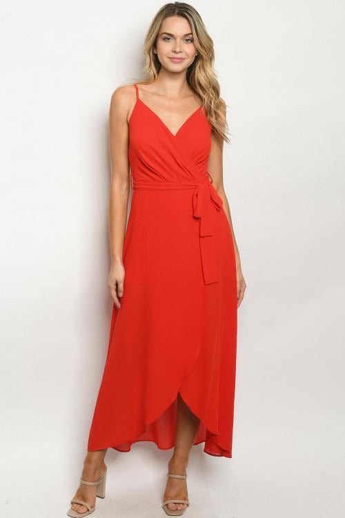 Red High Low Romper - RMC Boutique
