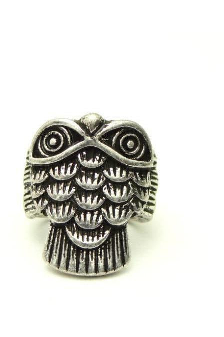 Carved Owl Cocktail Ring - RMC Boutique  - 1