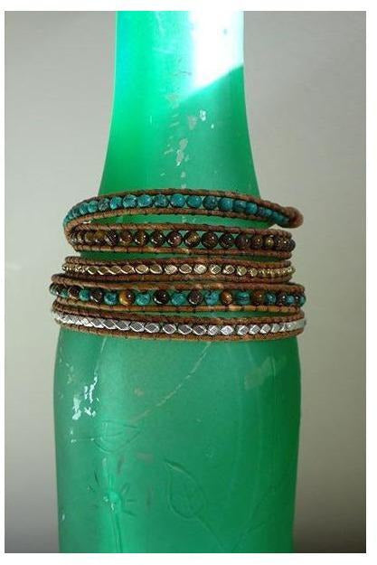 Chloe's leather bead strap bracelet - RMC Boutique