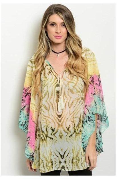 Colorful Animal Print Flow Tunic - RMC Boutique