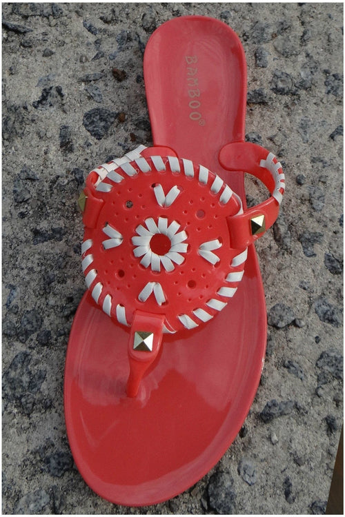 Coral Blush Thong Jelly Sandals - RMC Boutique