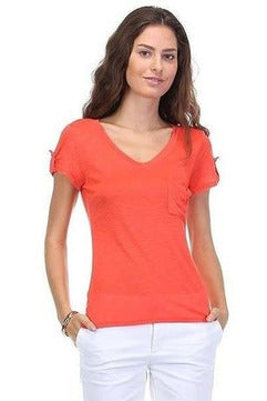 Rolled Up Tee with Side Pocket - RMC Boutique
