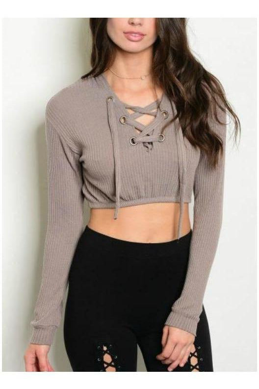 Criss Cross Crop Sweater