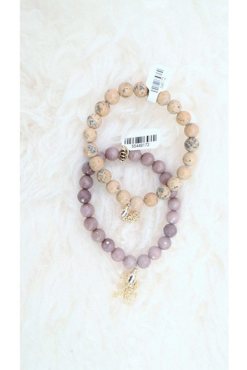 Betsy Pittard Designs: Stone Bracelet with Gold Tassel - RMC Boutique
