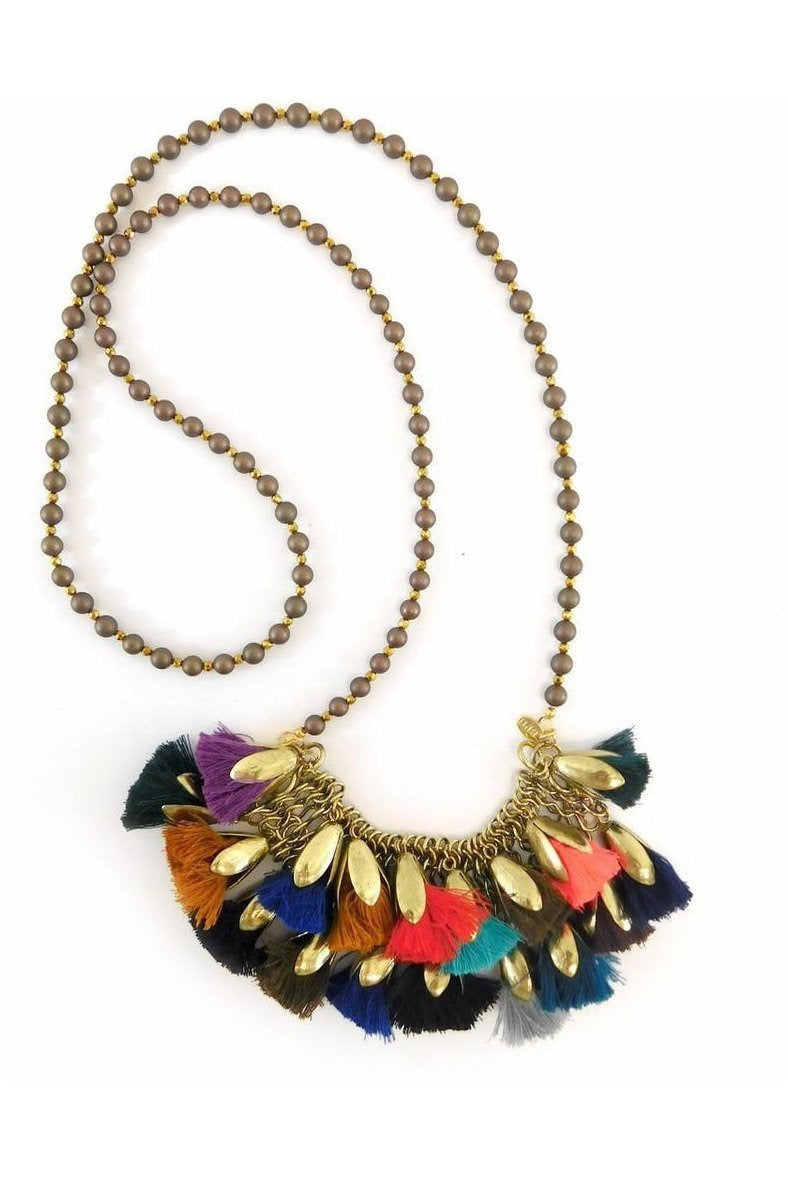 Betsy Pittard Designs: Handmade Rach Tassel Necklace - RMC Boutique  - 1