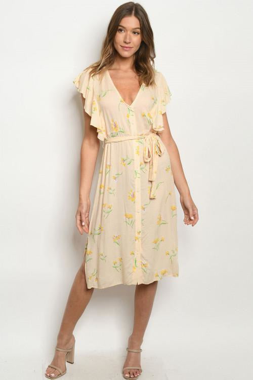 Daisy Ruffle Button Down Dress - RMC Boutique
