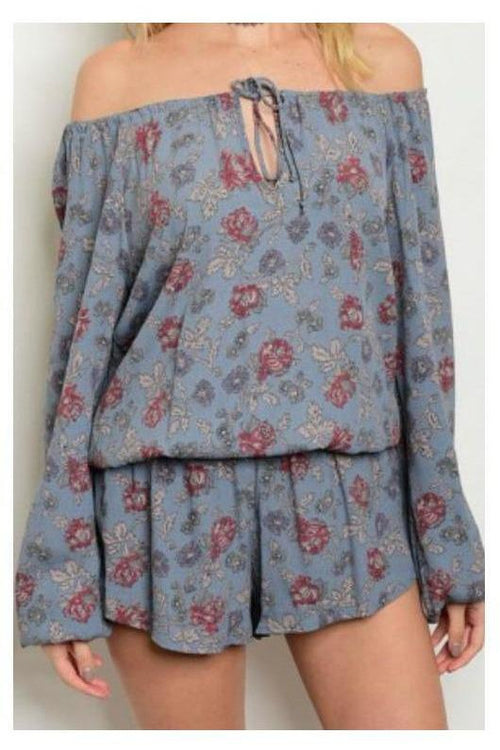 Delicately Floral Romper By Honey Punch
