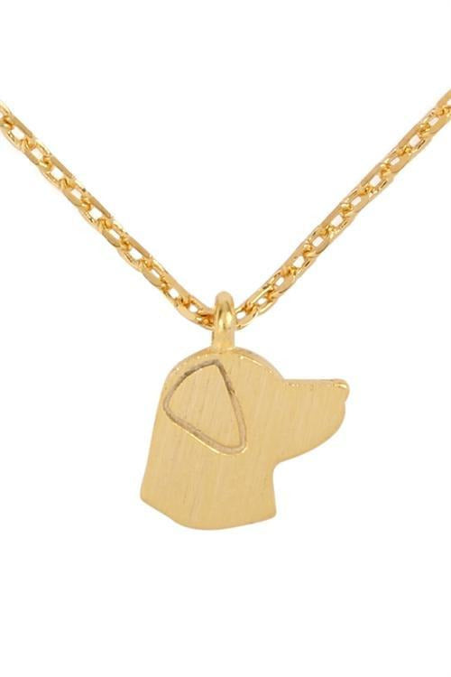 Dog Lover Momma Necklace, Gold Tone - RMC Boutique