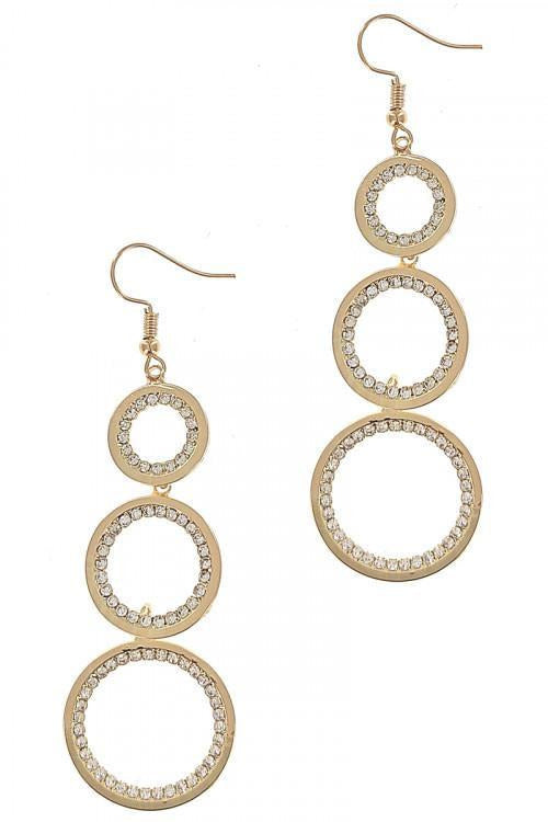 Triple Round Drop Earrings - RMC Boutique