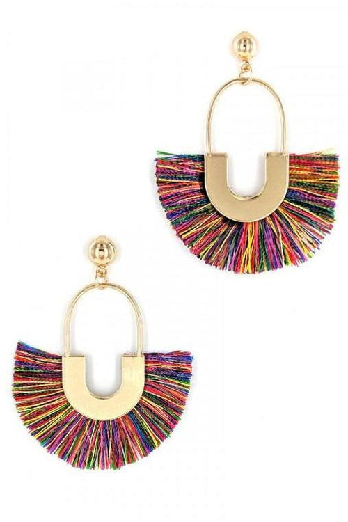 MUTI COLOR TASSEL EARRINGS