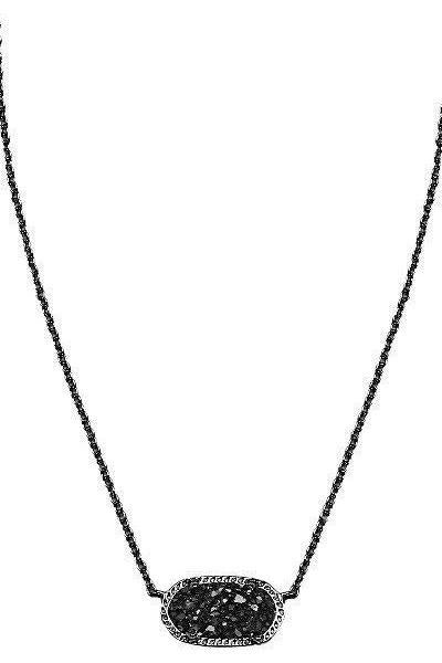 ELISA PENDANT NECKLACE IN BLACK DRUSY by Kendra Scott - RMC Boutique