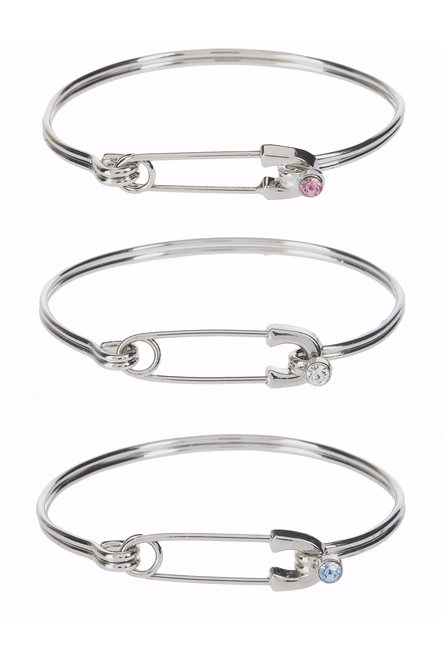 Diaper Pin Bangle Bracelets