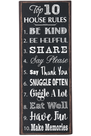 Top 10 House Rules, Art Plaque